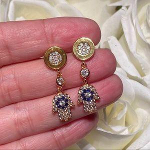 Gorgeous hamsa evil eye earrings